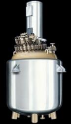 CE Type GMP Model Reactors: A series of glass lined jacketed reactors, two piece construction with clamped cover in accordance with DIN 28136, insulation of bottom pan ( up to Jacket Level ) with ( Rock Wool and Puf ) and SS 304 Cladding.  - by Swiss Glascoat Equipment, anand