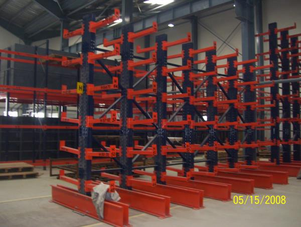 Vinar Cantilever Racks are strong and sturdy with self supporting structure. The load bearing arms are designed to take the required load. It is completely modular in nature and can be dismantled and re-erected. - by Vinar Systems Pvt. Ltd., New Delhi