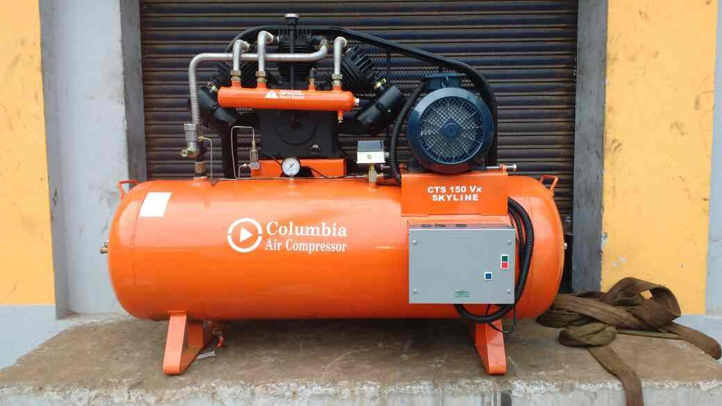 Air Compressor Manufacturer  Reciprocating Air Compressor Range 1.0HP to 20HP   Single Stage Air Compressor,  Two Stage Air Compressor,  High Pressure Air Compressor  Vacuum Compressor (Negative Displacement)  - by Columbia Air Compressors, Coimbatore