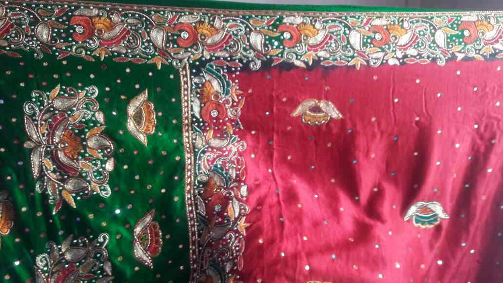 gajipallu border facy deziner saree - by Sagar Handicraft, Rajkot