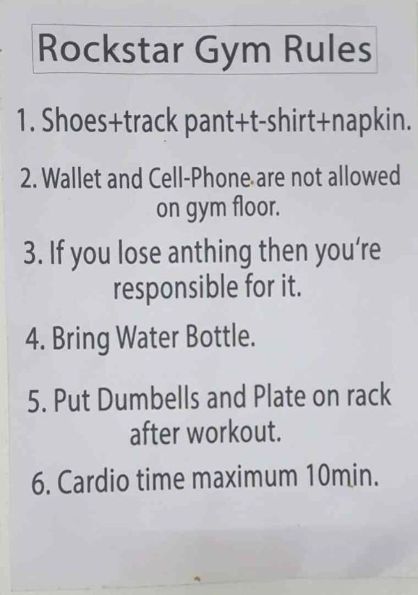 Our Gym Our Rules :)  Rockstar Gym - Maninagar - Ahmedabad  Best Gym near Maninagar  Best Gym in Ahmedabad  Call Mr. Parth 9374136048 - by Rockstar Gym, Ahmedabad