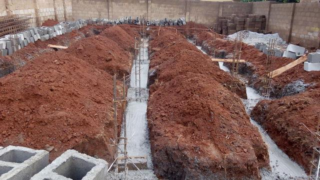 #Ilorin Project: Concrete in foundation - by Greyfield Integrated Services, Lagos