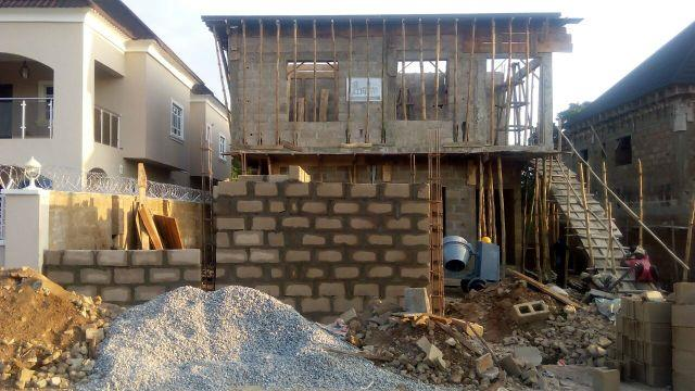 #Ilorin Project: Roof parapet work (AFTER 7 WEEKS OF MOBILIZING TO SITE) - by Greyfield Integrated Services, Lagos