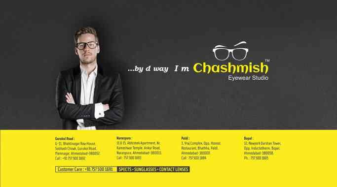 Chashmish EYEWEAR STUDIO is one stop solution for branded opticaks like sunglasses in Ahmedabad  - by CHASHMISH EYEWEAR STUDIO , Ahmedabad