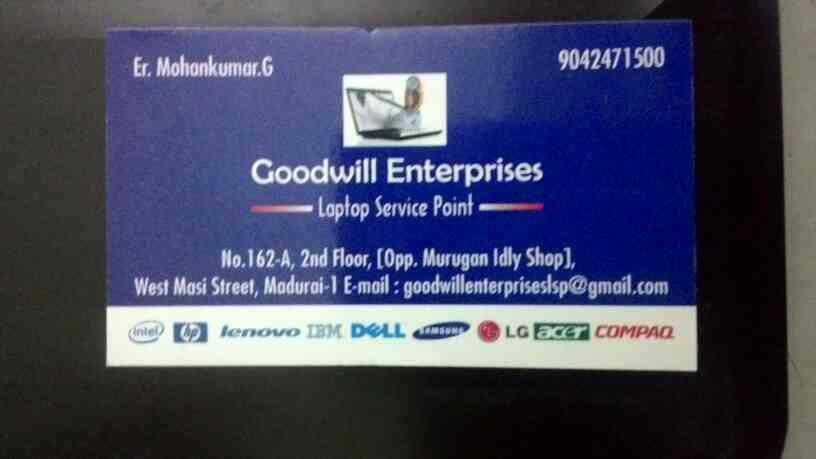 Laptop Service in Anna nagar at madurai - by Goodwill Laptop Service_90424 71500, Madurai