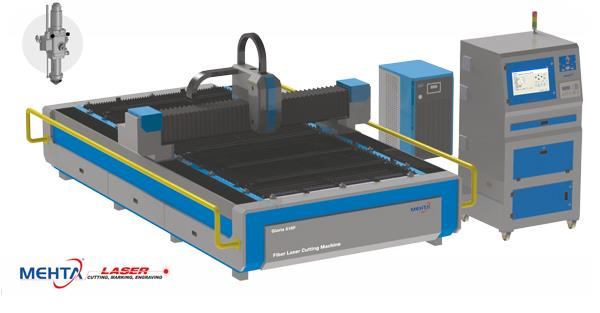 Gloria Fiber Laser Metal Cutting Machine  FIBER LASER TECHNOLOGY Briefly, fiber laser light is created by banks of diodes. The light is channeled and amplified through fiber optic cable similar to that used for data transfer. The amplified  - by MEHTA CAD CAM SYSTEMS PVT LTD, Ahmedabad