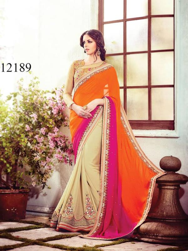 Have You Had The Honor To Own Something So Special That Simply Owning It Makes You The Reason Of Envy For All Your Known Folks. This Is Exactly The Saree You Need To Own, Its Beautiful Design And Reflective Colors Make It A Eternally Specia - by Viva n Diva , Surat