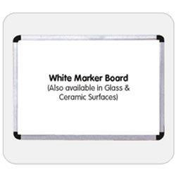 We offer all types of  White Marker Boards.White marker board (also available in glass & ceramic surfaces) engage their senses with sounds, colors and videos that make your lessons click. See them smile when they 'get it'. And experience te - by Esquire Display Boards, Hyderabad