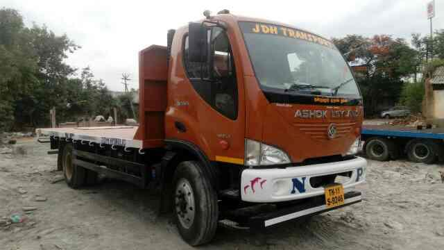 Open Truck Rental Service 20ft Open Truck  Ashok Leyland Boss-1412, Brand new Available for single and Monthly Rental  All over India Permit  - by JDH Hydraulics, Chennai