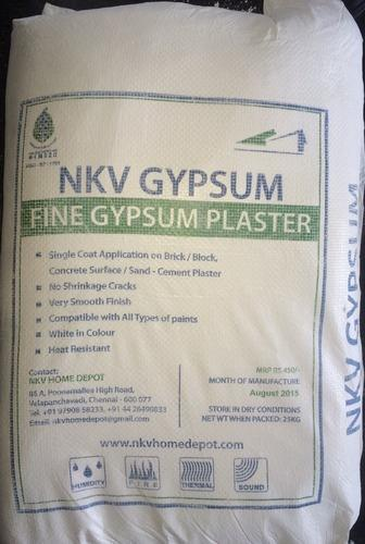 NKV Gypsum in Chennai  NKV HOME DEPOT is leading manufacturer of the world's finest Gypsum for internal plaster.  The manufacturing facility is well equipped with fully computerized machines. This is supported by highly qualified and experi - by NKV HOME DEPOT, Chennai