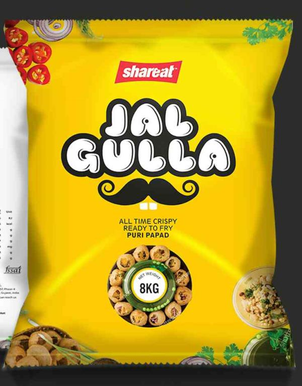 Pani Puri Pellets. Hygienically made in fully automated European machines. Optimum size, colour, expansion and crispness. Absorbs less oil making it a healthy option to traditional puries.  - by A Innovative Food Products LLP, Ahmedabad