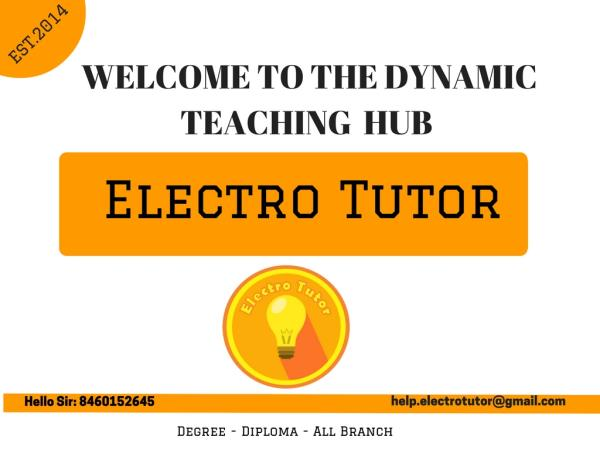 Here you can find GTU syllabus, GTU papers, GTU exam time table, GTU subject code, GTU projects, GTU student grade history, GTU important questions and many more things so keep in touch with us for any kind of queries related to engineering - by Electro Tutor, Vadodara
