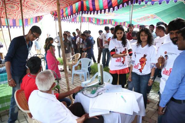 Blood donation camp by L7 Telugu movie crew at Tirupathi  - by L7 Telugu Movie, Hyderabad