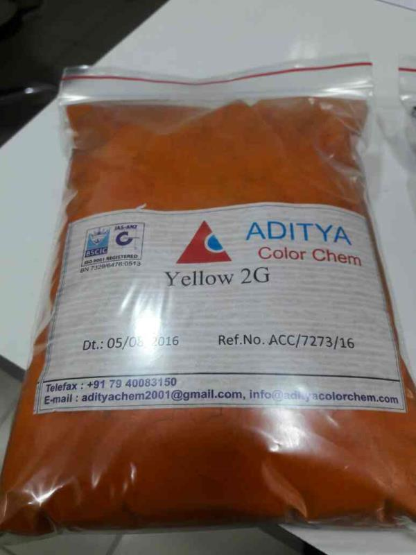 Supplier of  yellow 2g in Rajasthan supplier of yellow 2g in Chennai - by ADITYA COLOR CHEM, AHMEDABAD