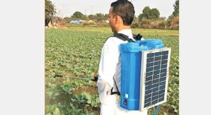 # solar spray machine in delhi ncr.  These HDPE tank 16 liter capacity solar operated sprayers make use of solar technology to provide relief to farmers. This sprayer is provided with a rechargeable battery instead of conventional handle-le - by Surya Solar and Power Company, Central Delhi