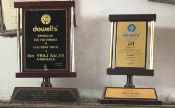 We Are Award winner company for best performance in India - by VRAJ SALES, Ahmedabad