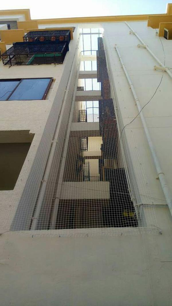Building and apartment duck and pipe line production net - by Lucky Safety Nets, Bengaluru