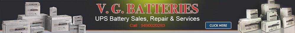 UPS Batteries Inverters Sales & Services - by V G Batteries, Hyderabad