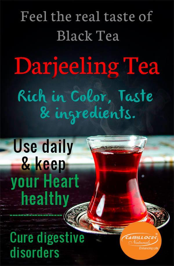 Darjeeling Black Tea in Chennai 100% Natural Leaf Tea  Rich in Color, Taste & ingredients. World's best tea leaves, expertly blended. It's Refresh your body & mind faster.  Health & Benefits of Black Tea:  Reduces plaque formation as well a - by BioShope, Chennai