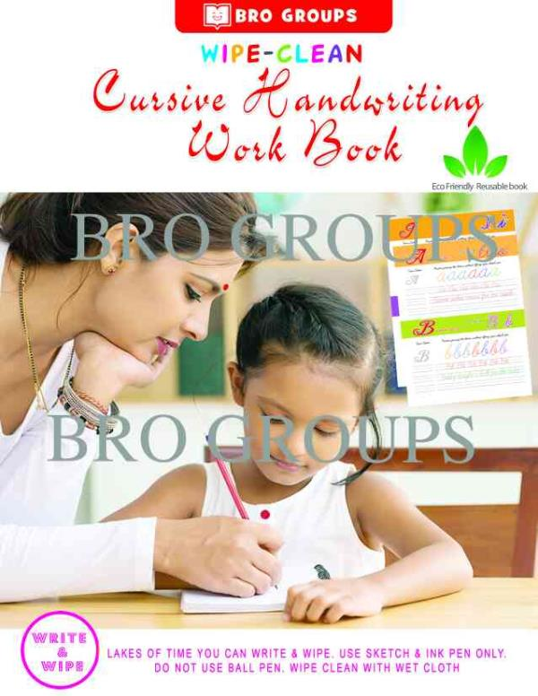 In The Wipe And Clean Books we are introduced The New Method Of Objects For Alphabets so it will Helps To Children Easy To Understand The Words  Cursive Writing Books Coimbatore Tamilnadu - by Bright Books, Coimbatore