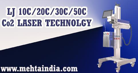 LJ 10C, 20C, 30C, 50C Co2 LASER TECHNOLGY  CO2 laser marking machine is carbon dioxide laser marking. The active laser medium is a gas discharge which is air cooled (Water cooled in higher power applications). The filling gas within dischar - by MEHTA CAD CAM SYSTEMS PVT LTD, Ahmedabad