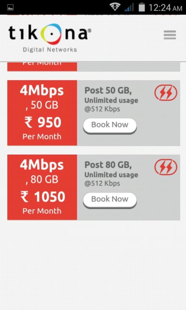 PLANS - by Tikona Internet Provider Dwarka,palam +919718387660, Dwarka Sec-1 New Delhi