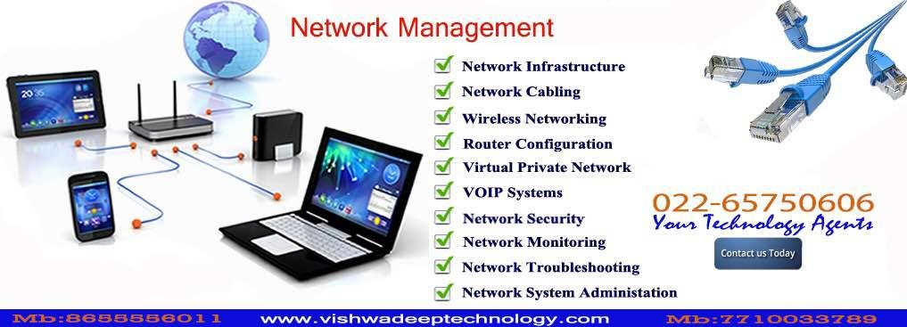 Network Management Services  www.vishwadeeptechnology.com - by Vishwadeep Technology, Mumbai Suburban