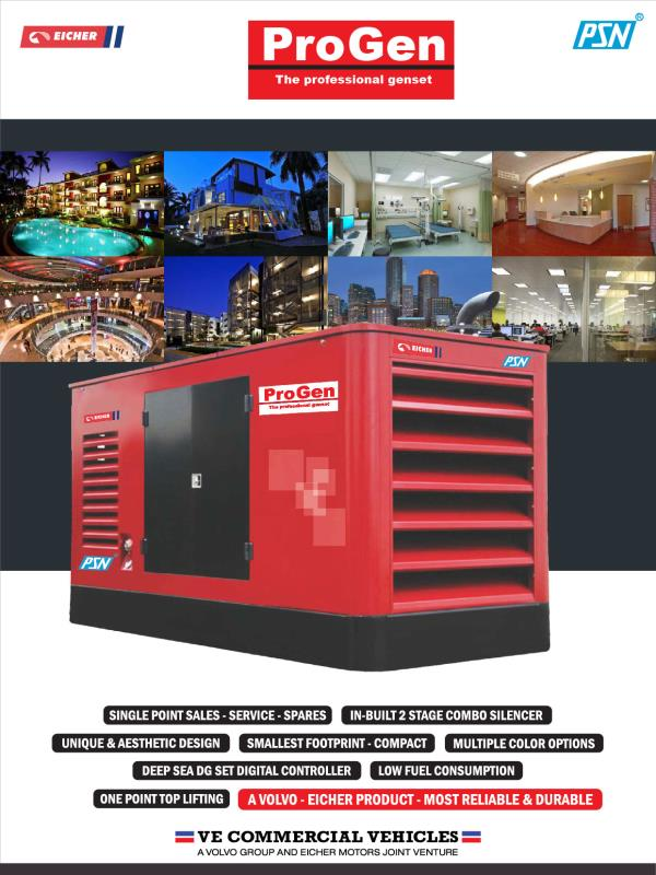 From 1 kva  to 500 kva generators   - by PSN Construction Equipment Pvt Ltd, Cochin