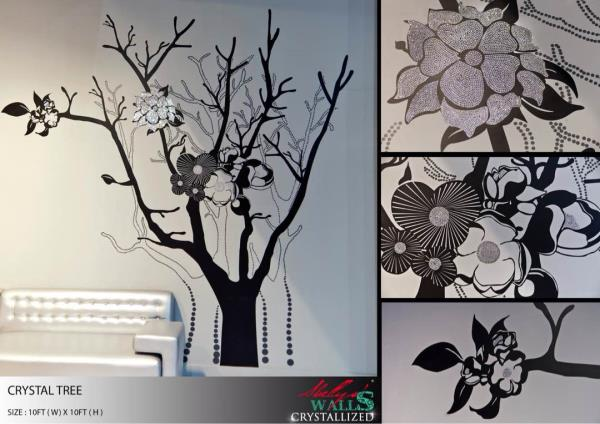 Glamor up your home, give the sparkle to your room with Shellyswalls Crystallized. Customized designs with Swarovski to enhance it. Wall Art, Wall Decal, Wall Tattoos, Crystalized Art by Shellyswalls. Create your Art now www.shellyswalls.co - by Shellys Walls, Mumbai
