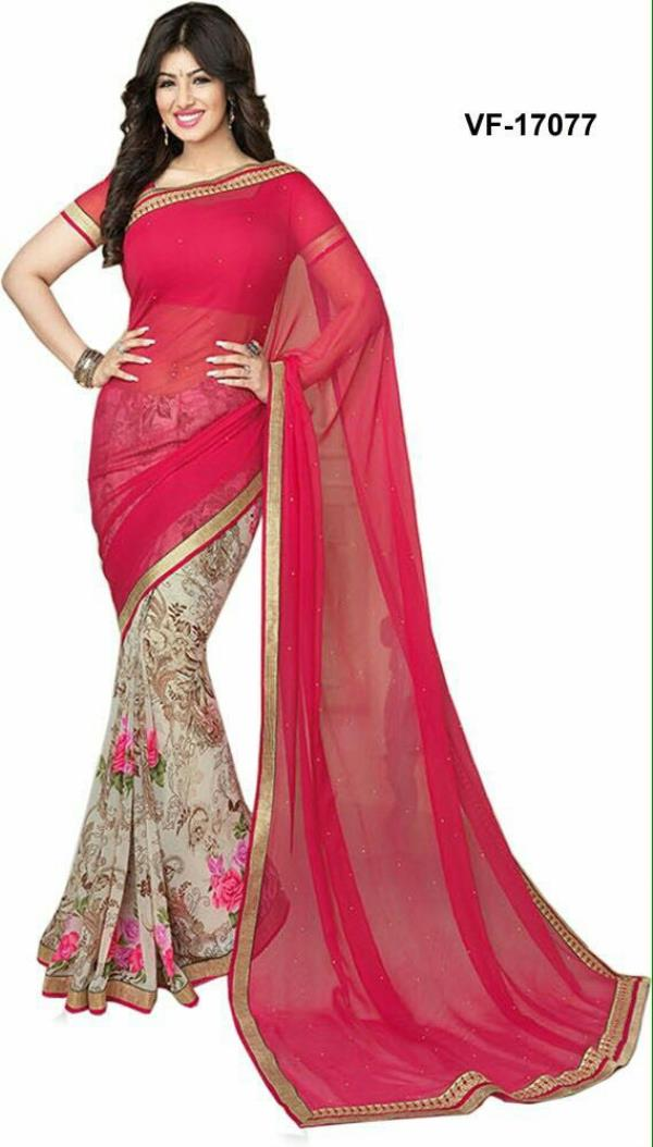 Designer Georgette and shiffon saree from Rubina Collections at kalkaji  - by Rubina Collections, Delhi