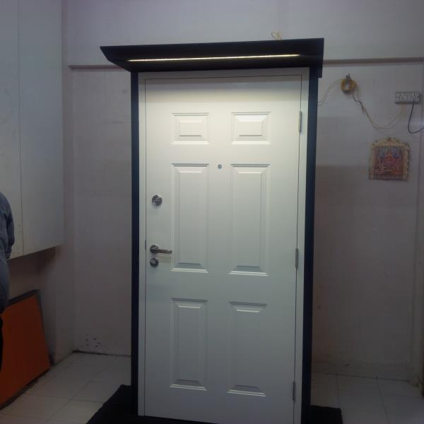 we do Steel Door for your Residence. we have Embossed Design Steel Doors which adds more beauty and safety to your home. - by Doors & Beyond, Chennai