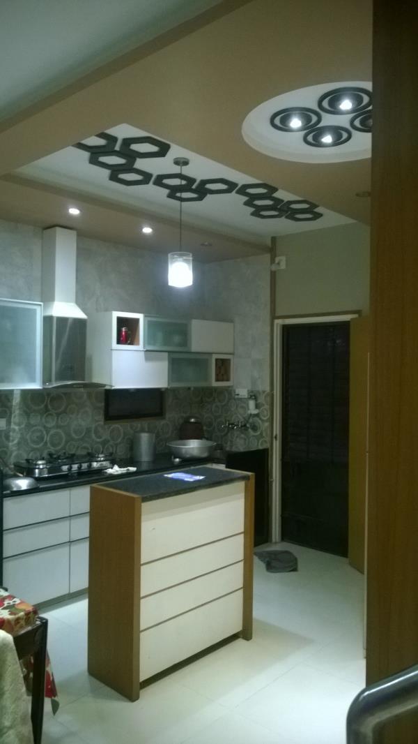 Modular kitchen with Italian theme.