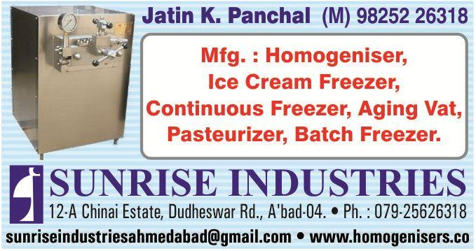We are one of the prominent manufacturer, exporter & supplier of quality  HOMOGENIZER, HIGH PRESSURE HOMOGENIZER, ICE CREAM HOMOGENIZER, PHARMA HOMOGENIZER, CHEMICAL HOMOGENIZER, MILK HOMOGENIZER, FLAVOURED HOMOGENIZER, STAINLESS STEEL HOMO - by MFG, HOMOGENIZER & TEXTILE INSTRUMENTS, Ahmedabad