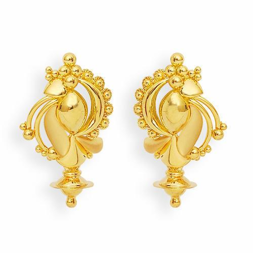 Gold Earrings  As per the needs and requirements of our customers, we are engaged in offering Gold Earrings.   Features:   Mesmerizing look Excellent finish Attractive design