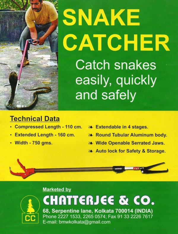 Telescopic type snake catcher