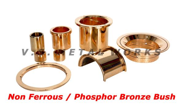 Bronze Bush  Manufacturer of Non Ferrous Bush, Concrete Mixer Bush, Drive Bush, Earth Mover Bush, Hydraulic Bush, Locomotive Bush - by V.S. METAL WORKS, Bimetal Bush Manufacturer, Chennai
