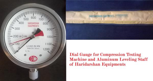 We are leading supplier of our own brand accurate dial gauge for Compression Testing Machine and Aluminum Leveling Staff. For more information, dial 9725144111 / 9725021222 or write us at sales@haridarshanequipments.com  Haridarshan Equipme - by Haridarshan Equipments, Ahmedabad