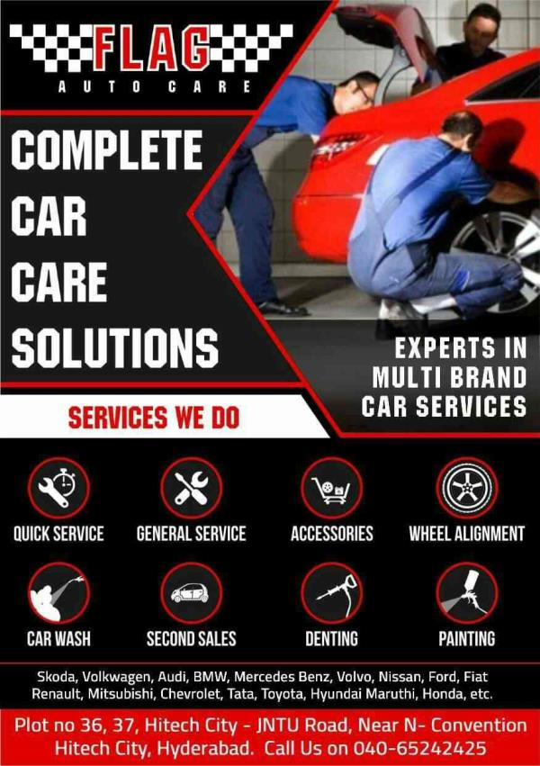 A Complete Car care solution@ Flag Autocare. For any queries please call us on 9949545559 (Hitech city branch) 7675855559 (Miyapur branch)  - by Flag Autocare, Hyderabad