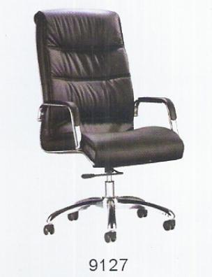 Director Chair. Model: 9127-High back revolving chair with high density cushioned seat and back rest, synchro mechanism, chrome arm rest upholstered with leatherette, suspa gas lift, chrome base with twin nylon castor wheel, seat and back u - by ACCURATE SEATING SYSTEMS, Bangalore