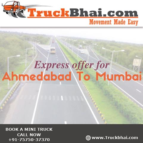 Book Mini Truck online  Express offer for Ahmedabad to Mumbai Airport  Tech Enabled Logistics Services  Best in class transportation services  Lowest rates in Market  Various types of vehicles available on demand  - by Truckbhai.com, Ahmedabad