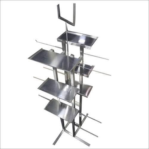 Stands for undergarments display  Steel stands manufactures  Steel hook stands - by Hi Tech Hangers & Fixtures, Delhi