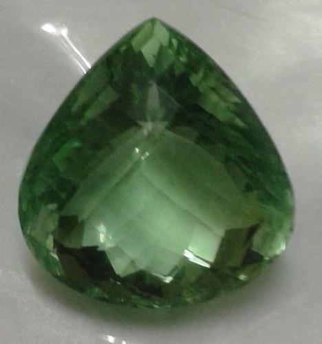 Green Fluorite Cut Gemstone - by Pumpkin International, Jaipur