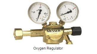 We are supplying Messer make Oxygen regulator in all over india.capacity is Inlet pressures up to 200 bar and 300 bar.we are also supply Pressure regulator for Oxygen, Acetylene, Propane, MAPP, Hydrogen, Methane, Coal gas, Forming gas Argon - by Adinath Equipment Pvt Ltd, Ahmedabad