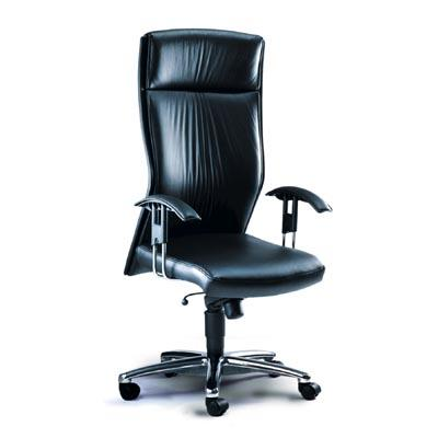 Director Chair. Model: AS-9110 L: Generation high back revolving chair with synchro mechanism for smooth tilting, high density molded cushioned seat and high density pu foam for back rest, height adjustable arm rest, chrome base and gas lif - by ACCURATE SEATING SYSTEMS, Bangalore