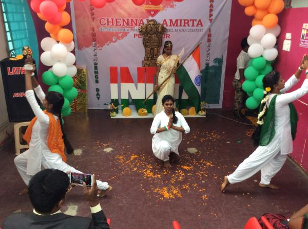 Best Hotel Management College in Tamilnadu   The Independence Day celebration was celebrated by the Chennais Amirta's Perambur branch students and staff on 15th August 2016. All the students and staff members gather round to celebrate Indep - by Chennais Amirta - Best Hotel Management Institute, chennai