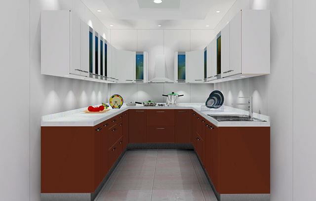 U Shape Modular Kitchens in Coimbatore