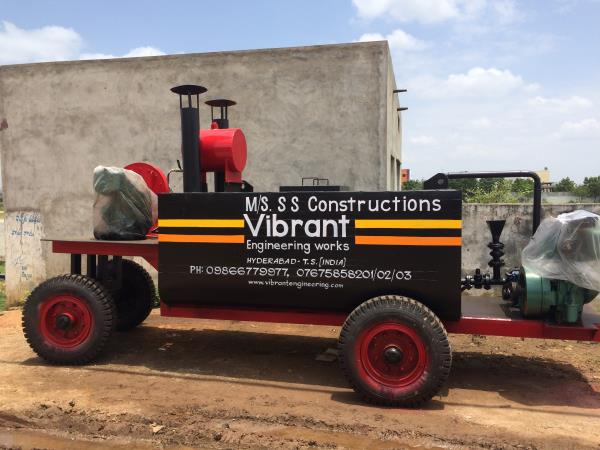 At vibrant we manufacture Bitumen sprayers of two types 1. Trolley mounted bitumen sprayer 2.Truck mounted bitumen sprayer.  - by Vibrant Construction Equipments, Hyderabad