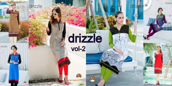 New collection of DRIZZLE VOL 2 KURTI🎉🎉🎉👇👇👇 TOP Cotton SIZE M, L, XL, XXL WORK Printed Work TYPE Readymade Price will be 425/- per piece  total 6 piece in this set - by O Womaniya, Pune