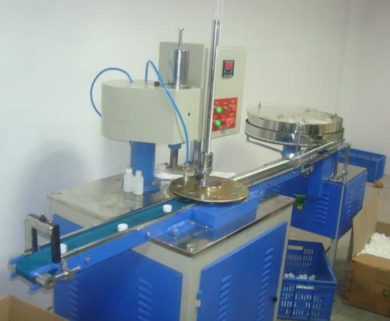 We are the Leading Manufactures and Suppliers of Induction sealing wads Wadding Machine: in Mumbai, Thane, Bhandup   Introducing our new automatic wadding machine for all sizes of plastic caps to insert Induction sealing wads. This machine  - by JSA Enterprises, Mumbai Suburban