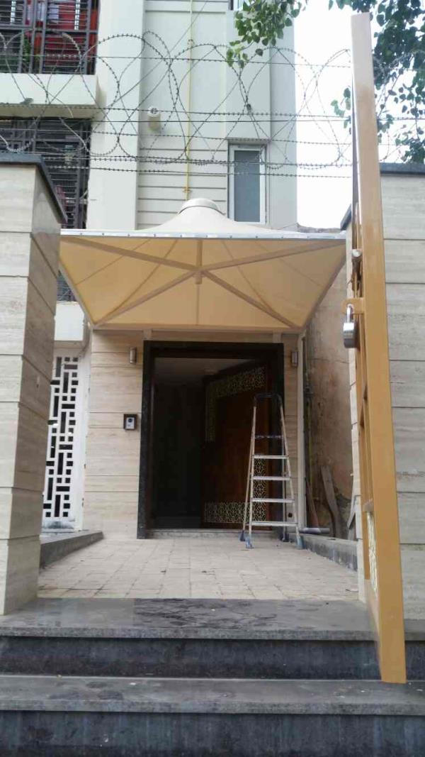 Entrance tensile structures for shop office factory showrooms and for many more places..  For More Info   www.arcwaytensilestructures.com   Arcway - Tensile Canopies Manufacturers in Gurgaon  - by Arcway Tech Structures, New Delhi